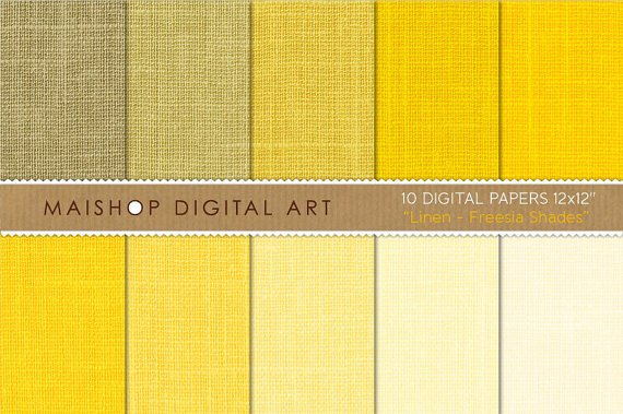 Yellow Digital Paper Linen