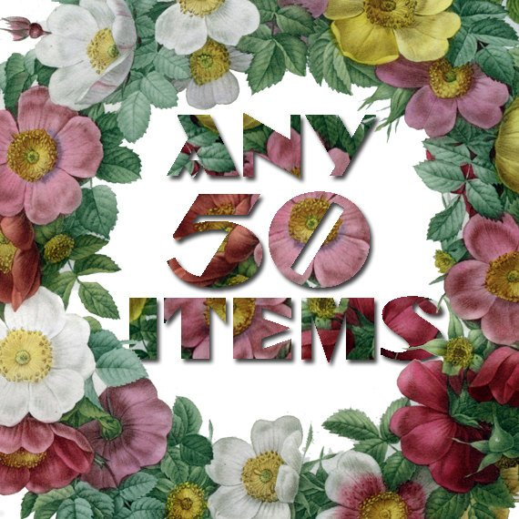 Any 50 Digital items from ArtVintage1800s shop offer with discount