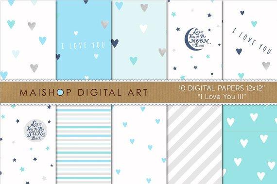 Digital Paper I Love You III