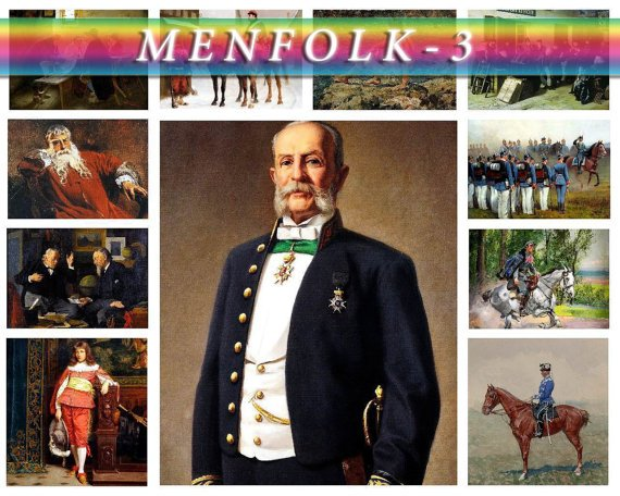 MENFOLK WARRIORS-3 130 vintage paintings with knights soldiers High Res.
