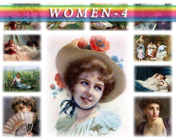 WOMEN-4 210 vintage paintings in High Res.