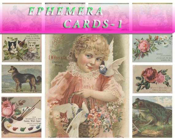 EPHEMERA-1 Collection with 400 vintage print