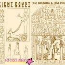 Ancient Egypt Heiroglyphics Photoshop Brushes-ABR