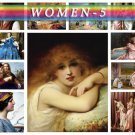 WOMEN-5 201 vintage paintings in High Res.