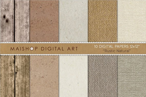 Digital Paper Rustic Natural
