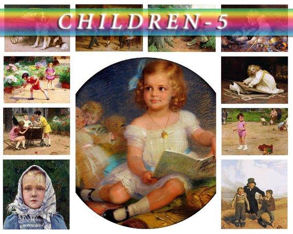 CHILDREN-5 188 vintage print