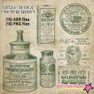 Vintage Medical Ephemera Brushes - Photoshop Brushes - vintage print