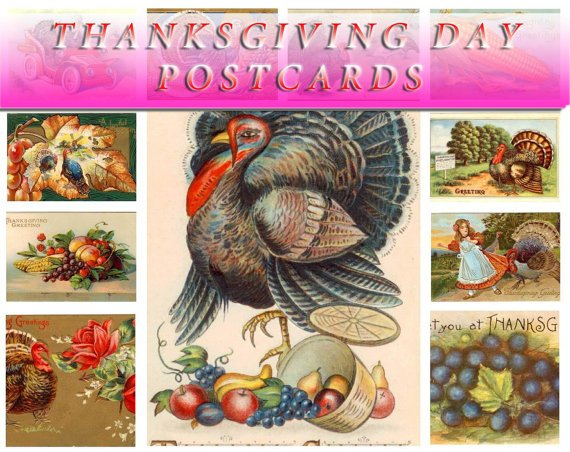THANKSGIVING DAY 560 vintage print