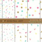 Digital Paper Round & Triangle Confetti II
