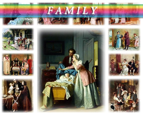 FAMILY on 120 vintage print