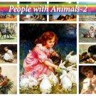 PEOPLE with ANIMALS-2 on 252 vintage print