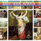 ASIA AFRICA East-3 theme on 207 vintage print