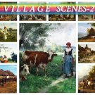 VILLAGE COUNTRY-2 on 225 vintage print