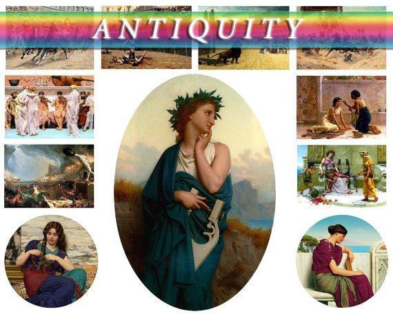 ANTIQUITY era theme on 270 vintage print