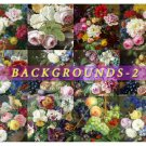 BACKGROUNDS-2 FLOWERS 49 square Still lives paper pack scrapbook decoupage
