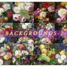 BACKGROUNDS-2 FLOWERS 49 square Still lives paper pack scrapbook decoupage