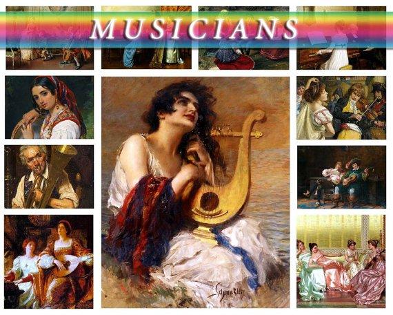 MUSICIANS on 310 vintage print