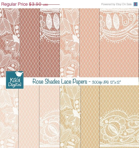 Lacy Digital Papers, Lacy Wedding Papers, scrapbook papers, wedding invitation