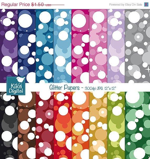 Glitter Digital Papers- Confetti Scrapbooking Papers- card design, scrapbooking