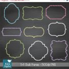 Chalk Frames - Digital Clipart / Scrapbooking card design, invitations