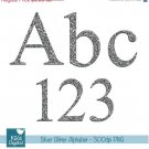 Silver Glitter Alphabet - Digital Clipart / Scrapbooking colorful - card design