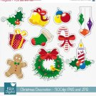 Christmas Decoration - Digital Clipart / Scrapbook - card design, stickers
