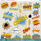 Speech Bubble clipart,super hero pop art text clip art,scrapbook,invitation,greeting cards