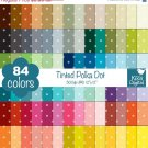 Tinted Polka Dot Digital Papers - Rainbow Scrapbook Papers - Huge Paper Pack