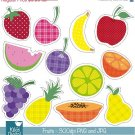 Yummy Fruits Digital Clipart ClipartBright Colors Fruits-Scrapbooking Graphics