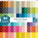 Polka Dot Digital Papers - Rainbow Scrapbook Papers - Huge Paper Pack