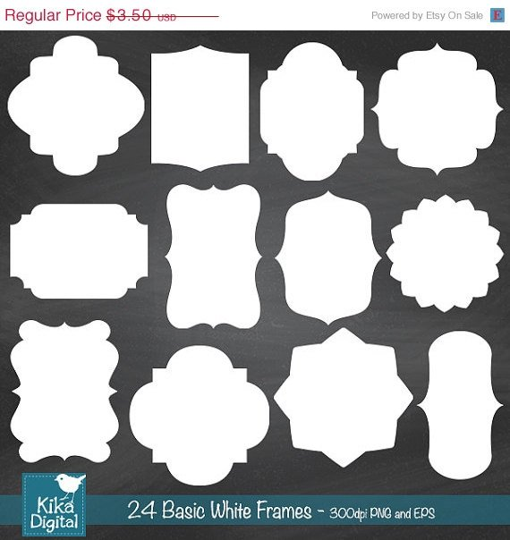 24 Basic White Frames, Basic Digital