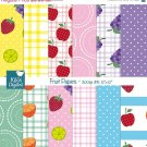 Fruit Papers - Digital Scrapbooking Paper - card design, invitations, stickers