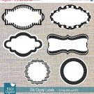 BW Labels- Scrapbooking Tags - card design, invitations, stickers, paper crafts