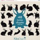 Bunnies Silhouette Clip ArtEaster Bunny vector silhouettesrabbit clip artdesignphotographEPSoa