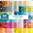 ON SALE 60 Percent Confetti Digital Papers-Rainbow Confetti Papers-Soap Bubble papers-Huge Paperlo