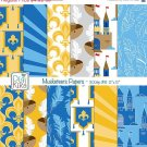 Musketeers Digital Papers-3 Musketeers Tileable/Seamless Pattern-website  print