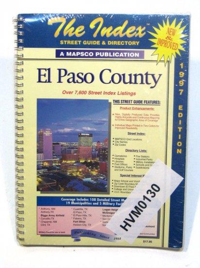 The Index Atlas El Paso County Texas 1997 mapsco