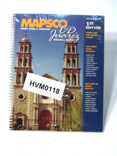 Mapsco Street Guide Atlas CD Juarez Mexico 1st ed 2001
