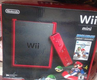 Wii mini with Mario kart game