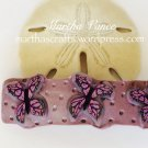 Polymer Clay Butterfly Barrette