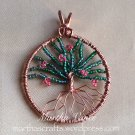 Wirewrapped Apple Tree Pendant