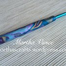 Crochet hook H covered with polymer clay