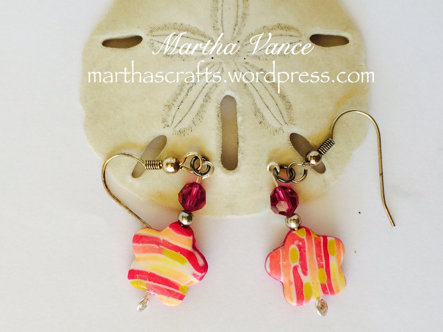 Polymer clay and crystal Earrings