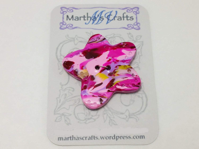 Polymer Clay Flower Button