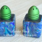 Salt and Pepper Shakers covered with Polymer Clay
