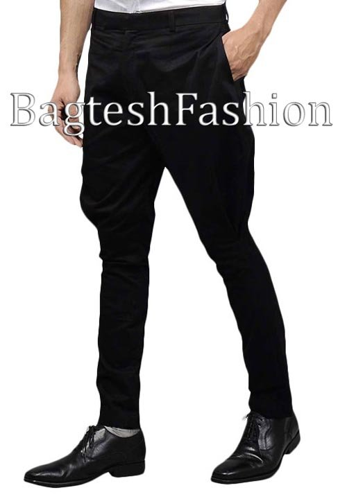 Mens Black Cotton Baggy Breeches
