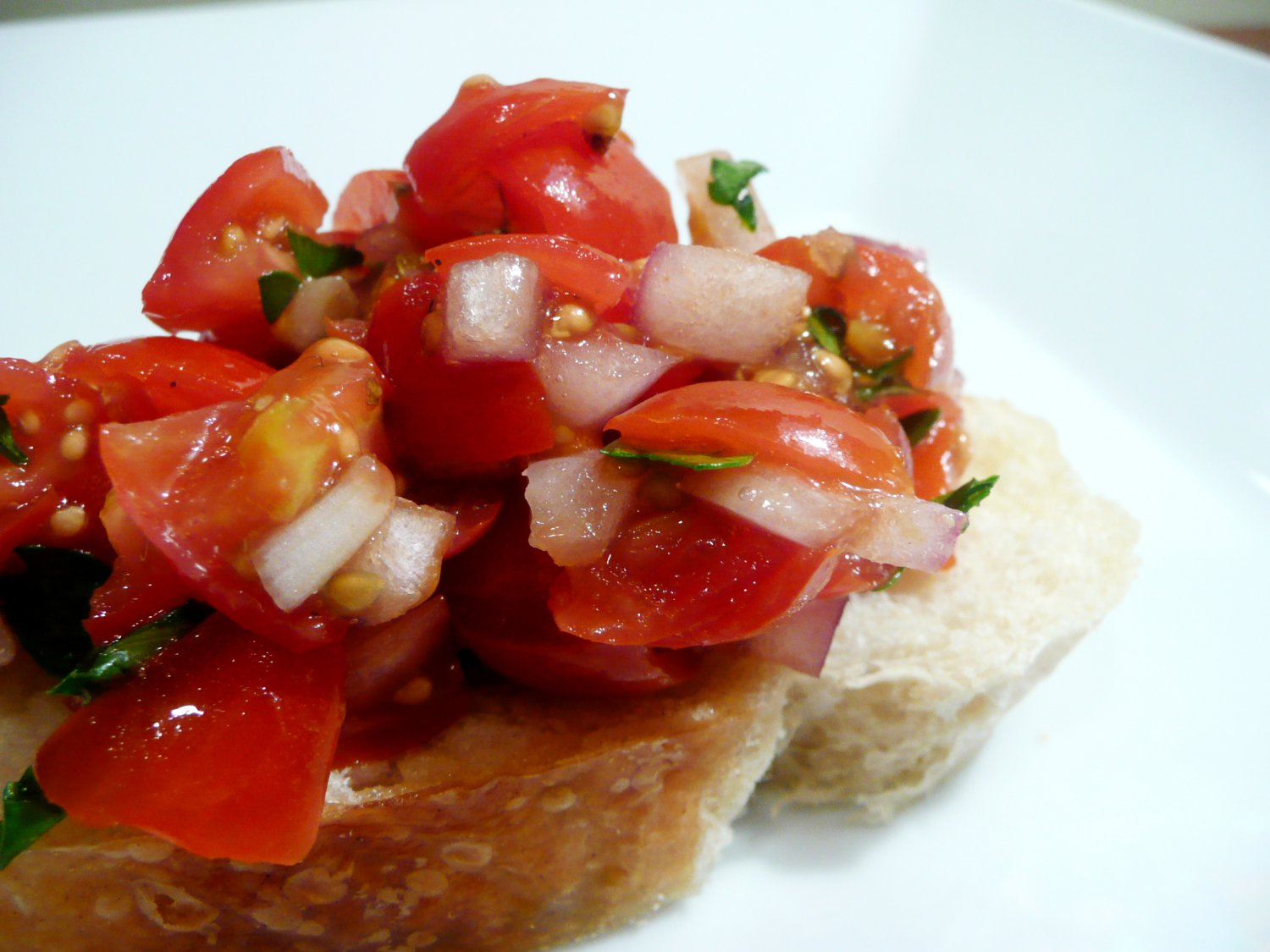 Bruschetta w/Apple or Balsamic Vinaigrette