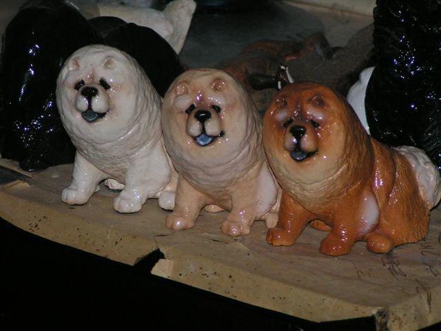 Chow Chow Dog Figurine by Hevener