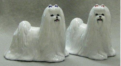 Maltese Dog Figurine Collectible