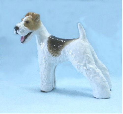 Wire Fox Terrier Dog Figurine